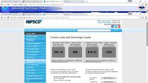 Lake Freeman Water Levels NIPSCO Oakdale Dam Tippecanoe River