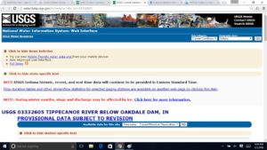USGS Lake Freeman - Oakdale Dam - Tippecanoe River
